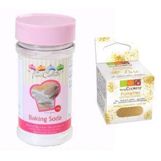 Baking Soda 100 g + Edible golden...