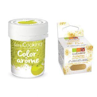 Green food dye Apple flavor 10 g +...
