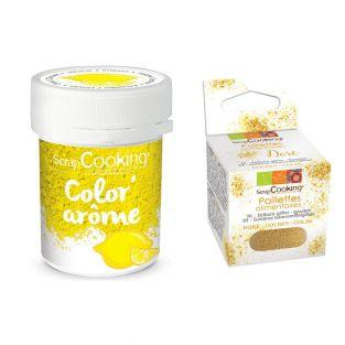 Yellow food dye Lemon flavor 10 g +...