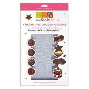 4 fogli strutture cioccolato