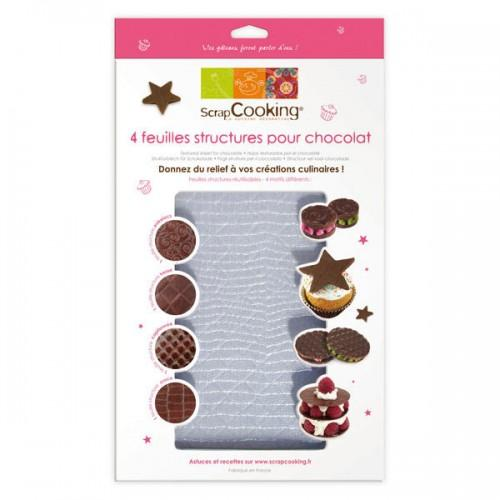 Textured sheets for chocolate x 4