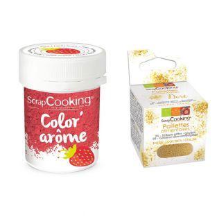 Pink food dye Strawberry flavor 10 g...