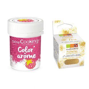 Pink food dye Raspberry flavor 10 g +...