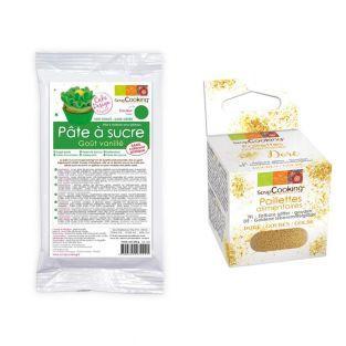 Pasta de azúcar verde sabor vainilla...