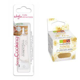 Edible glue for cake decorating +...