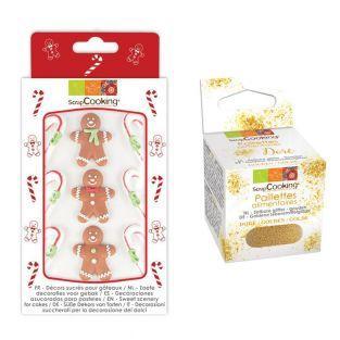 9 Sugar Decorations Gingerbread +...