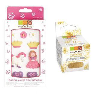 Süße Dekorationen für Kuchen Princess...