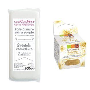 Easy-to-roll sugar paste 200 g white...