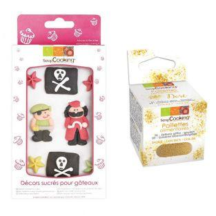 Sweet cake decorations Pirate +...