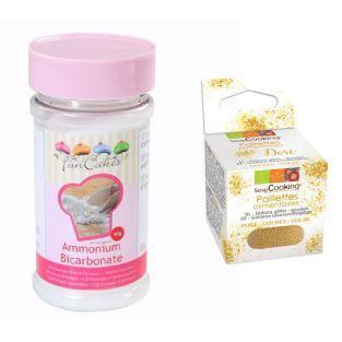 Bicarbonato d'ammonio 80 g + Glitter...
