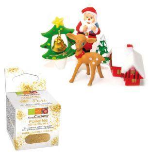 Weihnachtskuchendeko + Goldene...