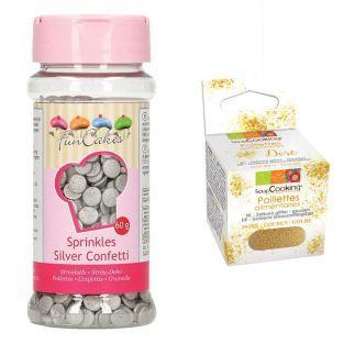 Decoraciones de azúcar confeti 60 g...