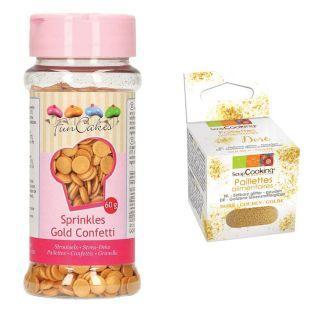 Décors sucrés confettis dorés +...