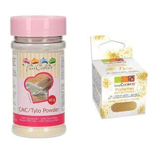Tylo CMC powder 60 g + Edible golden...