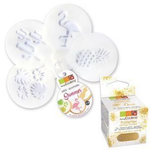 Set of 4 mini cake stencils Ø 6 cm...