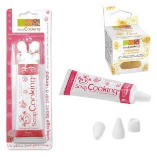 Penna per decorare bianca + Glitter...
