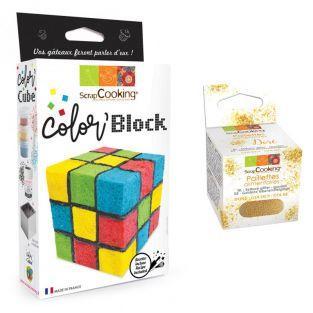 Kit gâteau Cube de couleurs +...