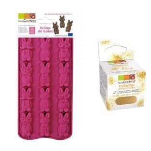 Schokoladenform Hasen + Goldene...