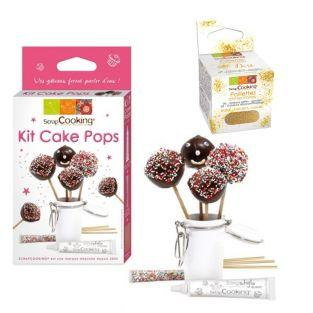 Cake pops making set + Edible golden...