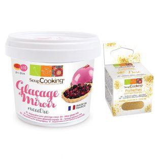 Mirror Glaze mix 220 g + Edible...