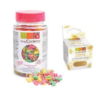 Decoraciones de azúcar 50 g Verano +...