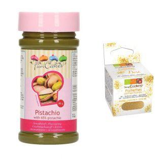 Pâte de pistaches 80 g + paillettes...