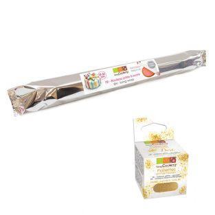 Rollfondant Weiß 430 g + Goldene...