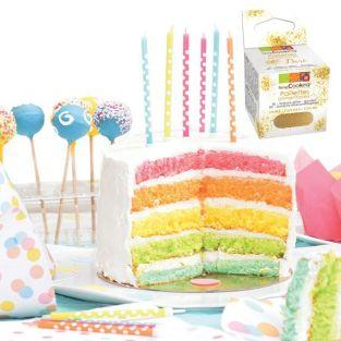 Rainbow cake kit + Edible golden glitter