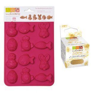 Form für Osterschokolade + Goldene...