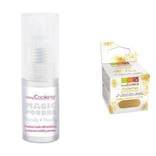Edible iridescent powder 7 g Silver +...
