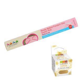 Pâte à sucre en rouleau Ø 36 cm rose...