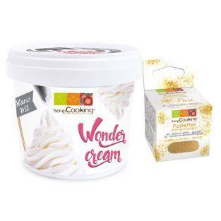 Crema pastelera blanca Wonder 150 g +...
