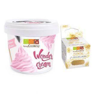 Wonder cream rose 150 g + paillettes...