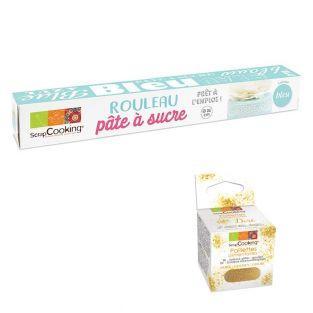 Rollo de pasta de azúcar azúl 430 g +...