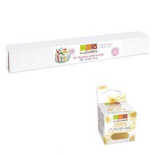 Rollo de pasta de azúcar rosa 430 g +...