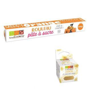 Rollfondant Ø 36 cm 430 g Orange +...