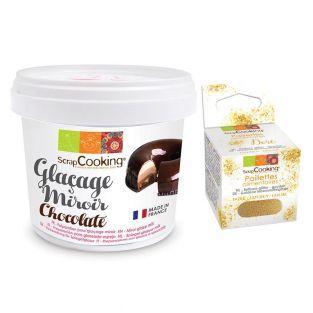 Glaçage miroir chocolaté 220 g +...