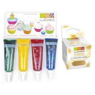 4 colorantes alimentarios líquidos...