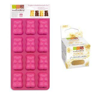 Moules oursons guimauve-chocolat +...