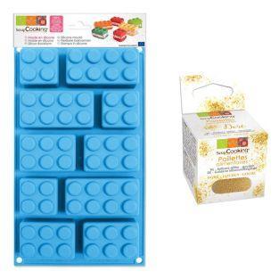 Moule en silicone briques Lego +...