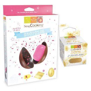 Kit œuf de Pâques chocolat surprise +...