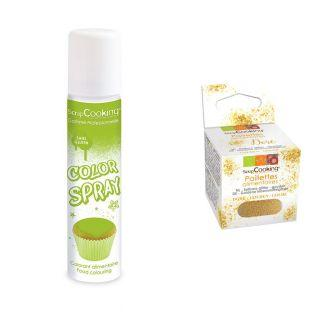 Food color spray 75 ml Green + Edible...