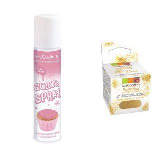Food color spray 75 ml Pink + Edible...