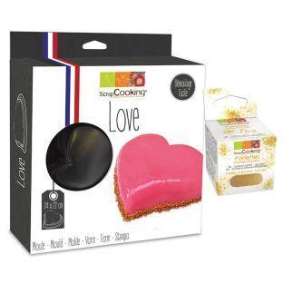 Moule à gâteau semi-rigide coeur +...