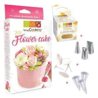 Set de pastelería Pastel flor +...