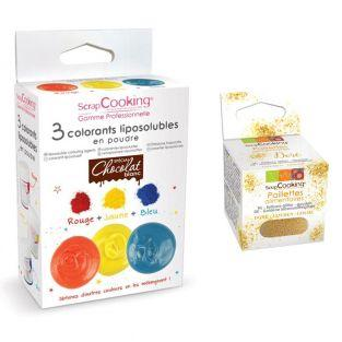 3 colorants liposolubles en poudre +...