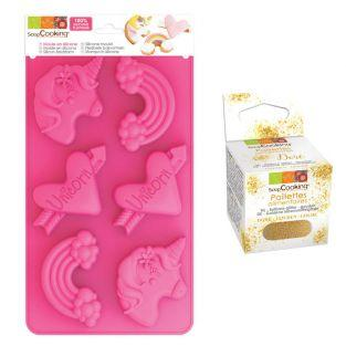Silicone cake mold Unicorns + Edible...