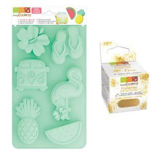 Silicone cake mold Summer + Edible...