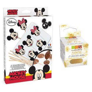 Chocolate lollipop mold set Mickey &...