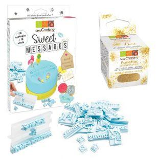 Kit de pastelería Sweet messages +...